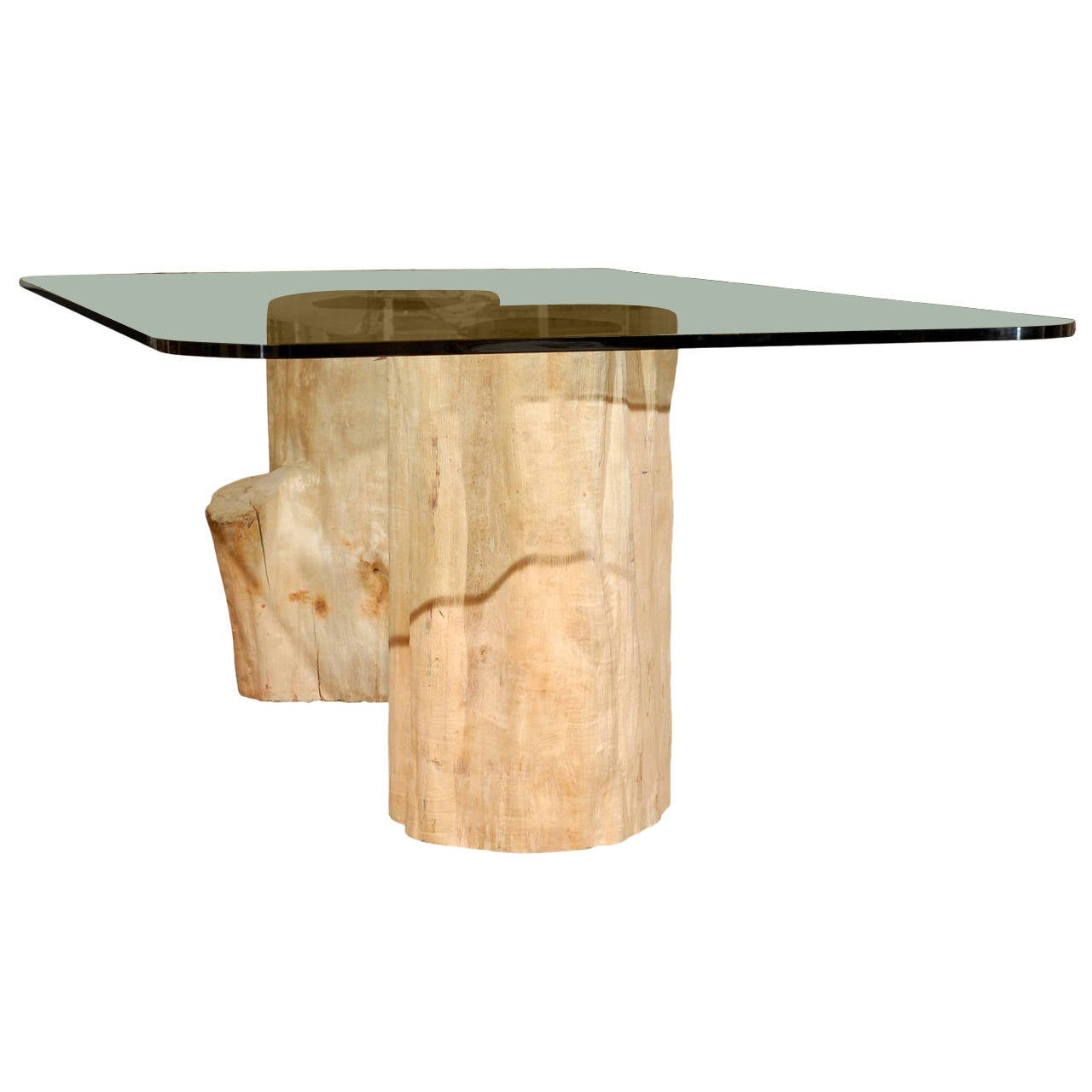Wooden Dining Table Base ~ Dining table with antique wood tree bases from burma for