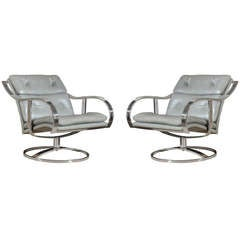 Super Duty Warren Platner for Steelcase Swivel Lounge/Club Chairs