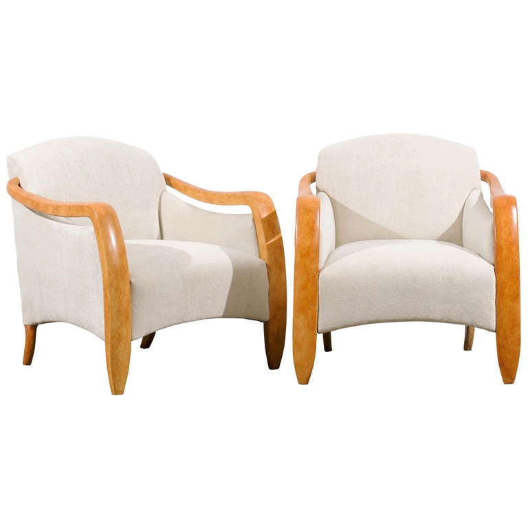 Jaw-Dropping Restored Pair of Modern Club Chairs, circa 1980