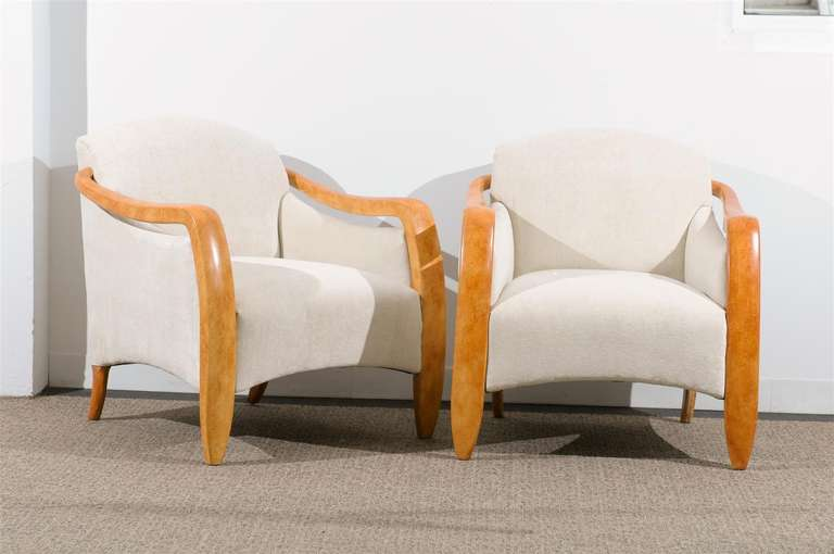 Jaw-Dropping Restored Pair of Modern Club Chairs 2