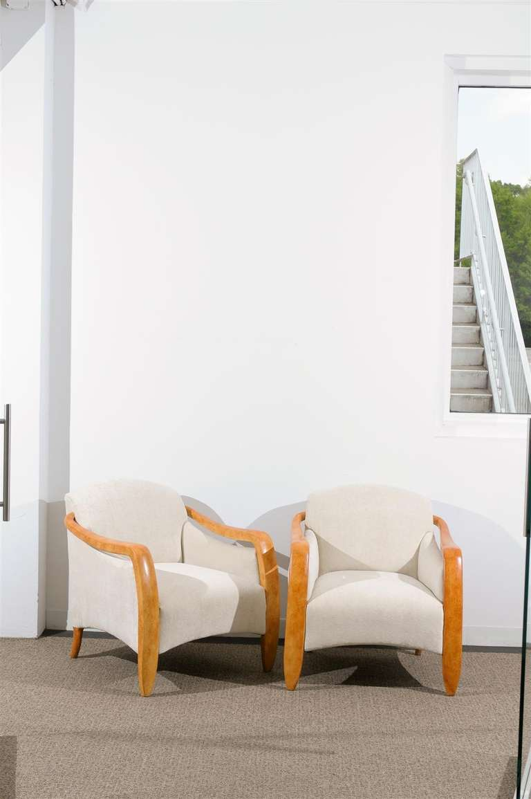 Jaw-Dropping Restored Pair of Modern Club Chairs 3