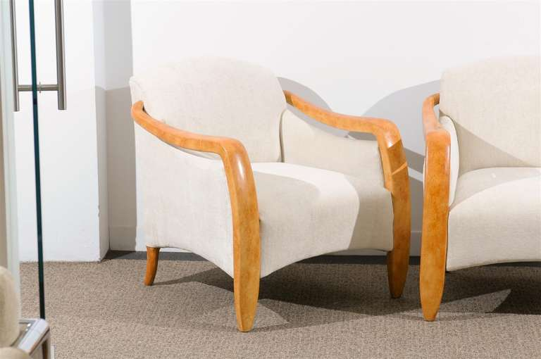 Jaw-Dropping Restored Pair of Modern Club Chairs 8