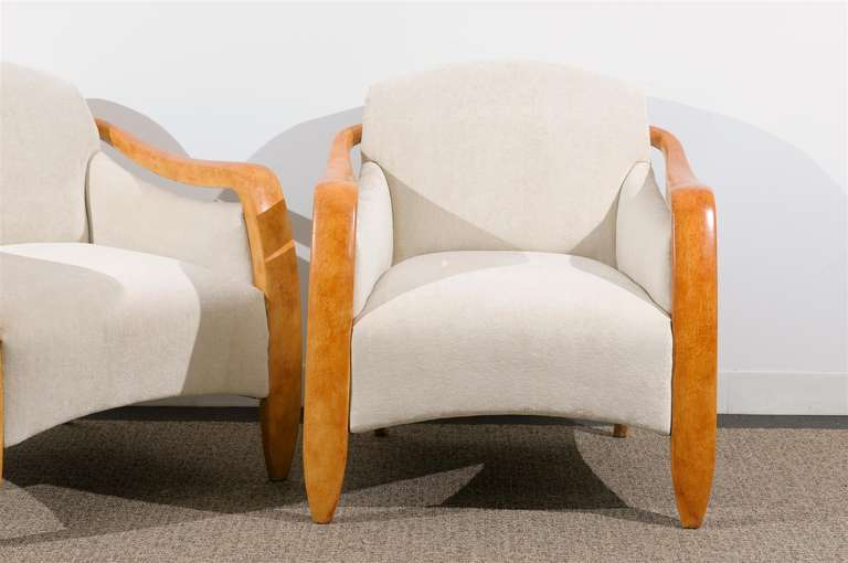 Jaw-Dropping Restored Pair of Modern Club Chairs 6