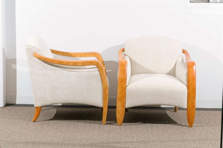 Jaw-Dropping Restored Pair of Modern Club Chairs 9
