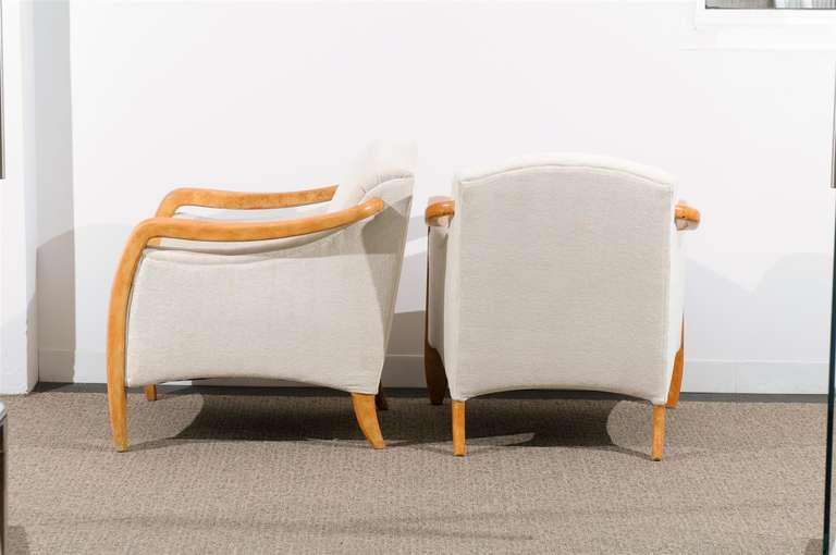 Jaw-Dropping Restored Pair of Modern Club Chairs 7