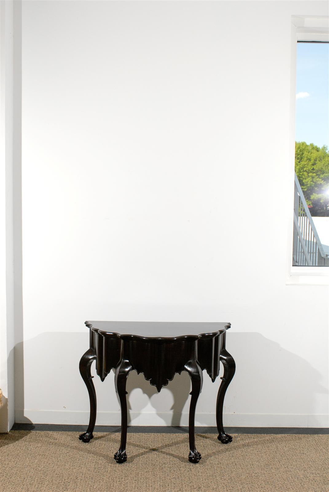 Beautiful chippendale console table with makers mark at 1stdibs beautiful chippendale console table with makers mark 3 geotapseo Gallery