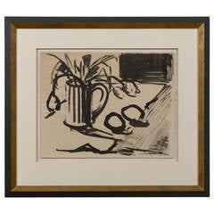 Gouache Still Life Painting, Signed and Dated 1941