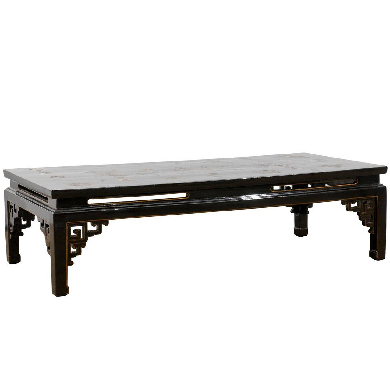 Blacl Lacquered Chinese Coffee Table At 1stdibs