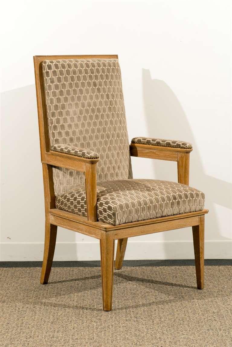 Pair of armchairs in oak ceruse.