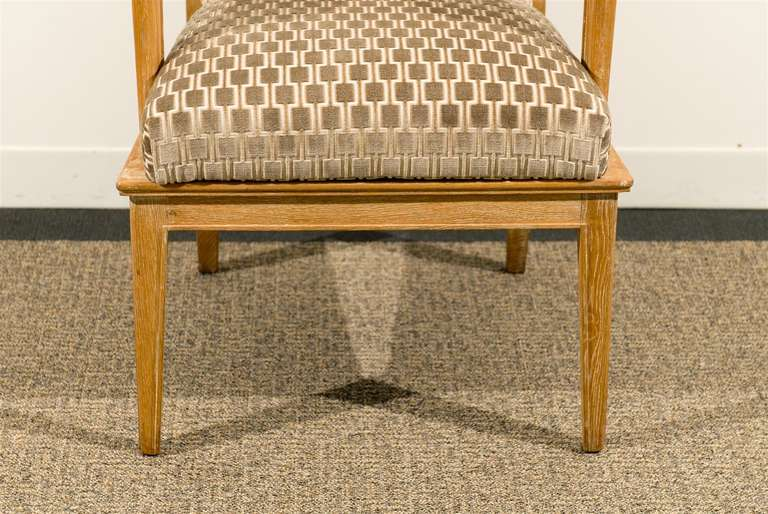 Fabric Pair of 1940s Style Armchairs For Sale