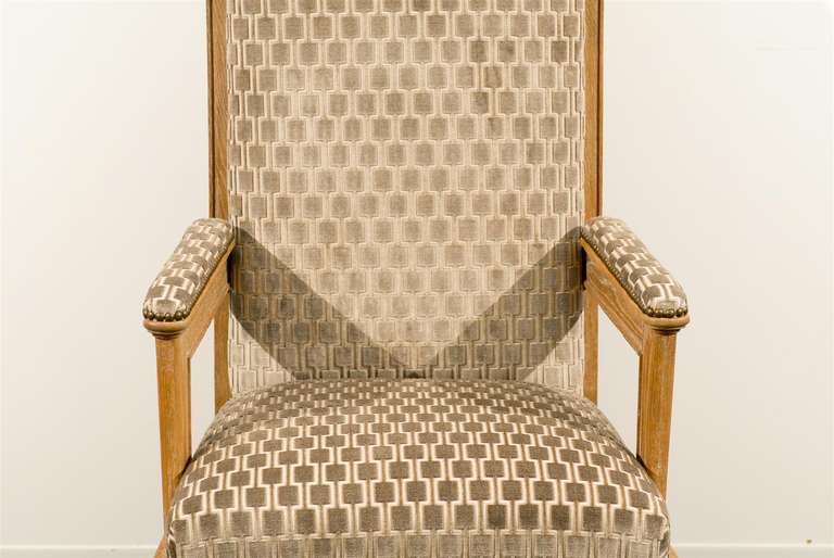 French Pair of 1940s Style Armchairs For Sale