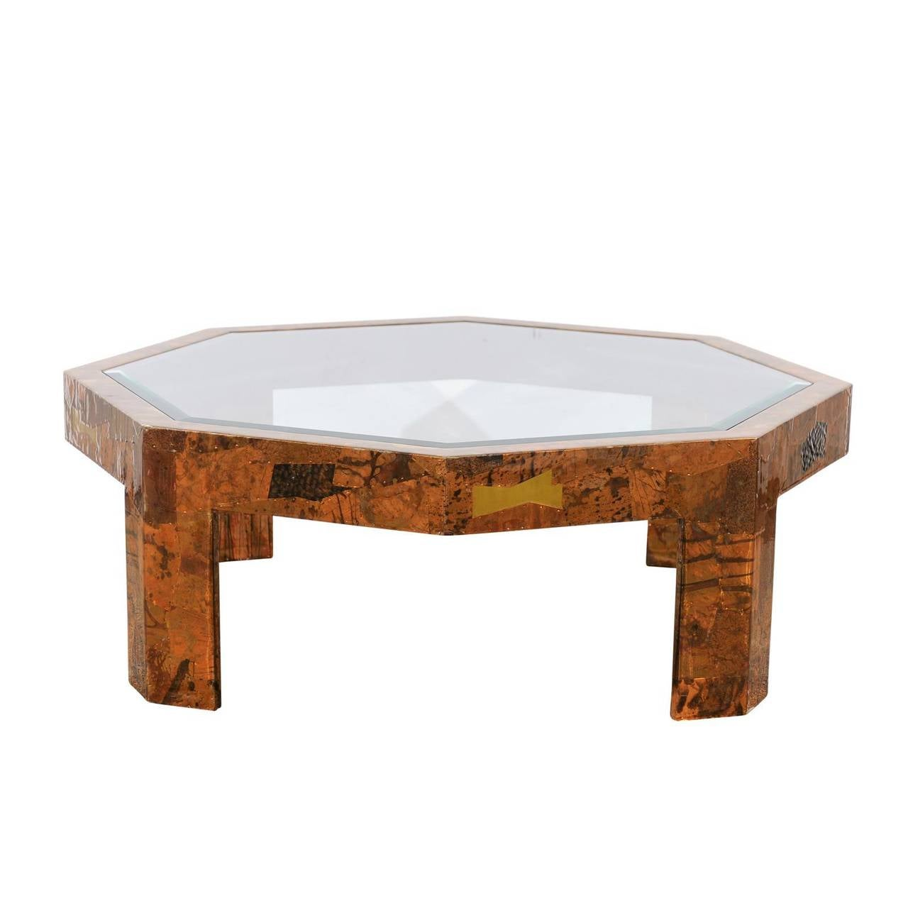Mid-Century Modern Octagonal Coffee Table