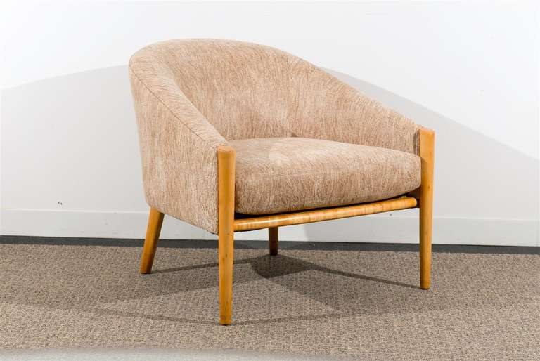 These magnificent lounge chairs are shipped as professionally photographed and described in the listing narrative: Meticulously professionally restored and installation ready. Expert custom upholstery service is available.  An absolutely beautiful