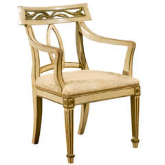 Italian Painted Louis XVI Style Armchair