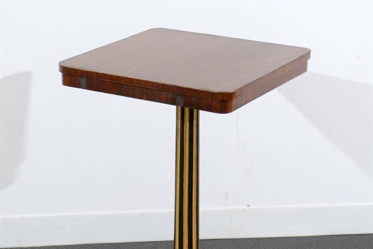 Regency Style Pedestal Side Table in Rosewood For Sale 1