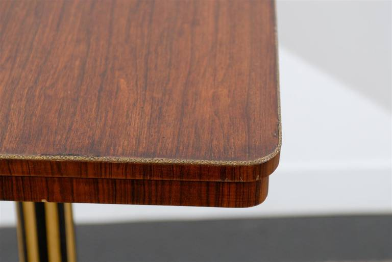 20th Century Regency Style Pedestal Side Table in Rosewood For Sale