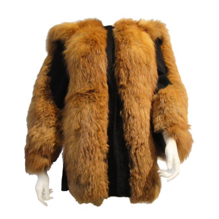 Fantastic 80s Red Fox/Suede Chubby Jacket