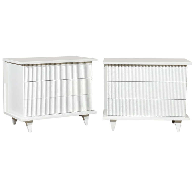 Exceptional Restored Pair of Modern Chests by American of Martinsville