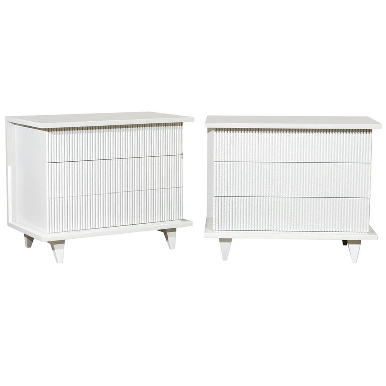 Exceptional Restored Pair of Modern Chests by American of Martinsville For Sale