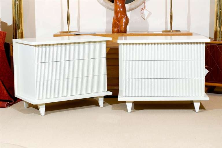 Exceptional Restored Pair Of Modern Chests By American Of