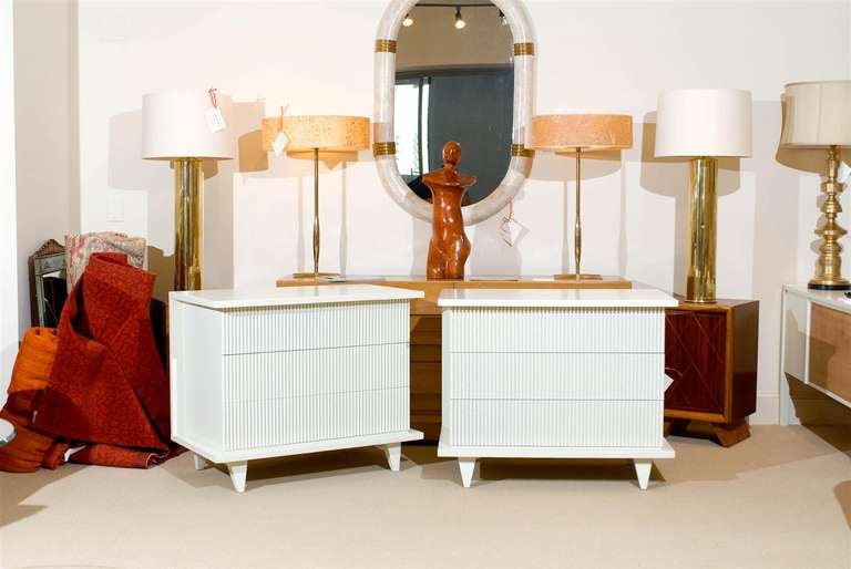 Exceptional Restored Pair of Modern Chests by American of Martinsville For Sale 2