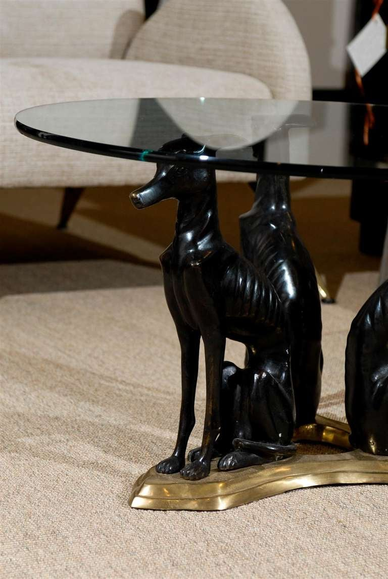 Maitland Smith Bronze And Brass Quot Whippets Quot Coffee Table