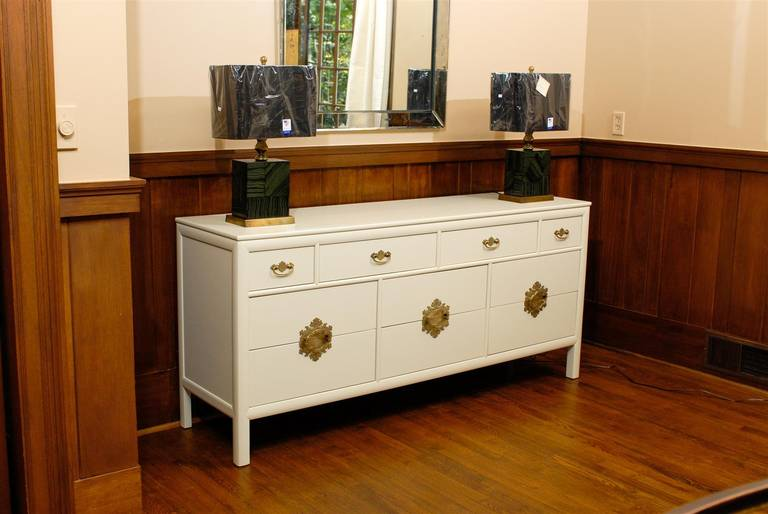 Mid-Century Modern Gorgeous Restored Ten-Drawer Chest by Ray Sabota for Century Furniture  For Sale
