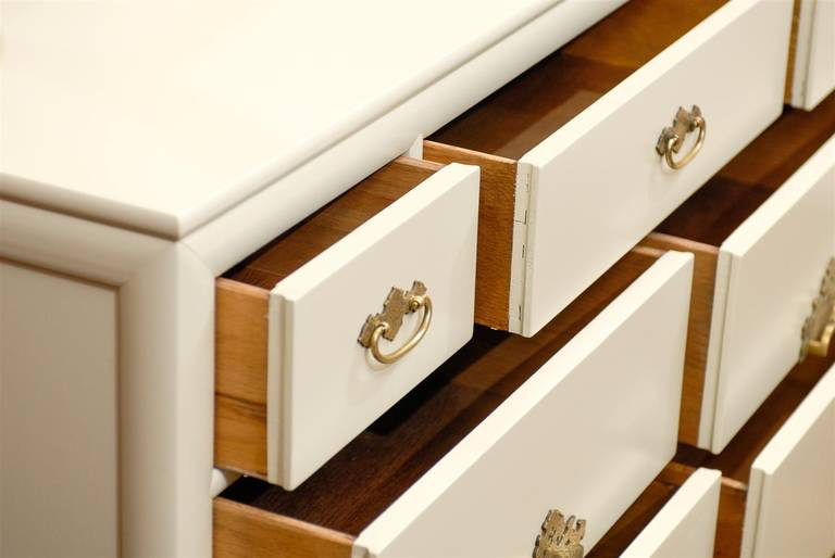 Brass Gorgeous Restored Ten-Drawer Chest by Ray Sabota for Century Furniture  For Sale
