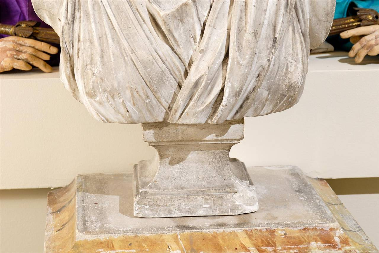 19th Century Plaster Bust of Diana 5