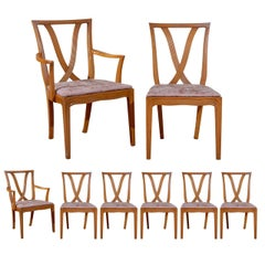Stunning Set of 8 Dining Chairs by Tomlinson, 1955 - Choice of Lacquer Color
