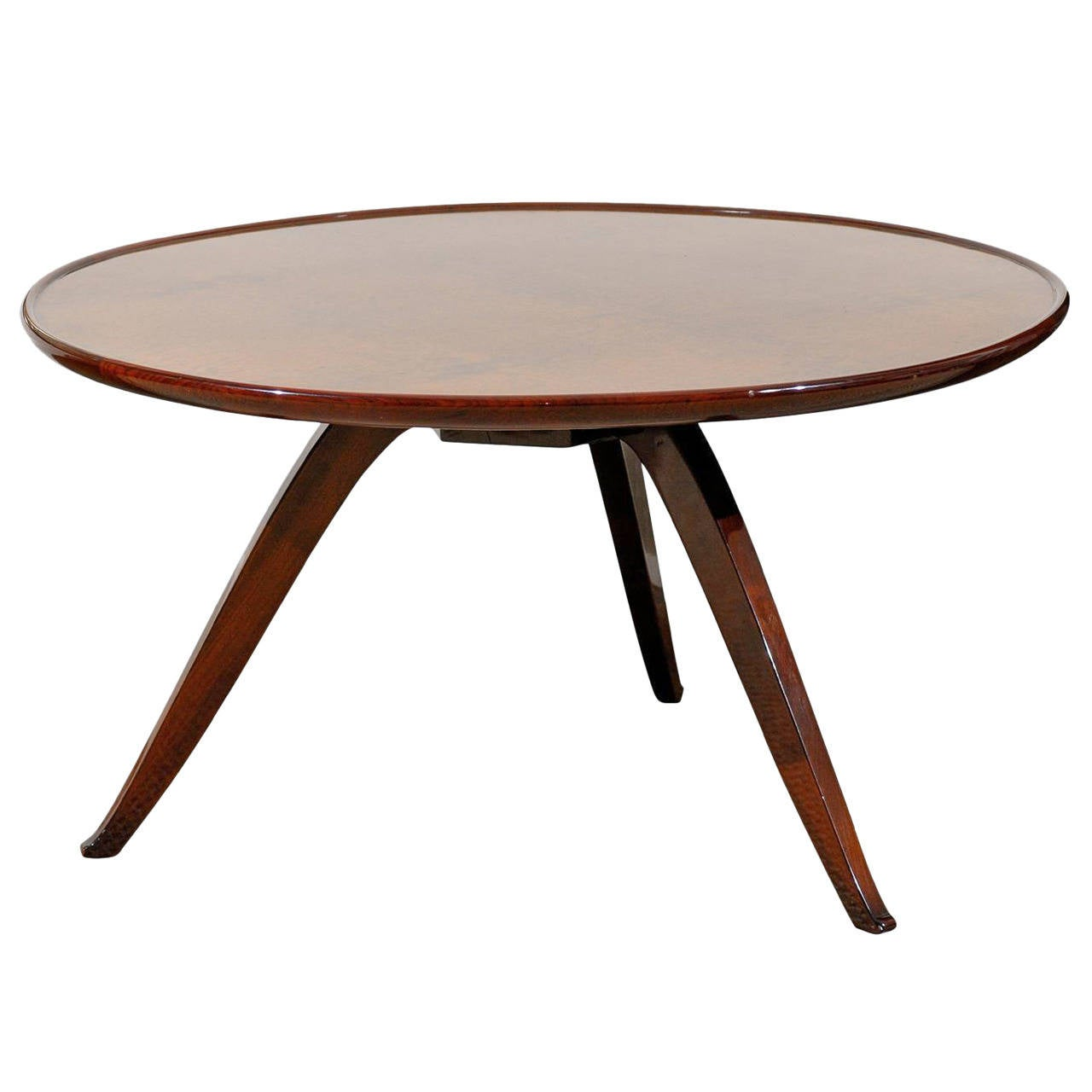 Elegant Walnut Coffee Table Attributed To Jules Leleu At 1stdibs