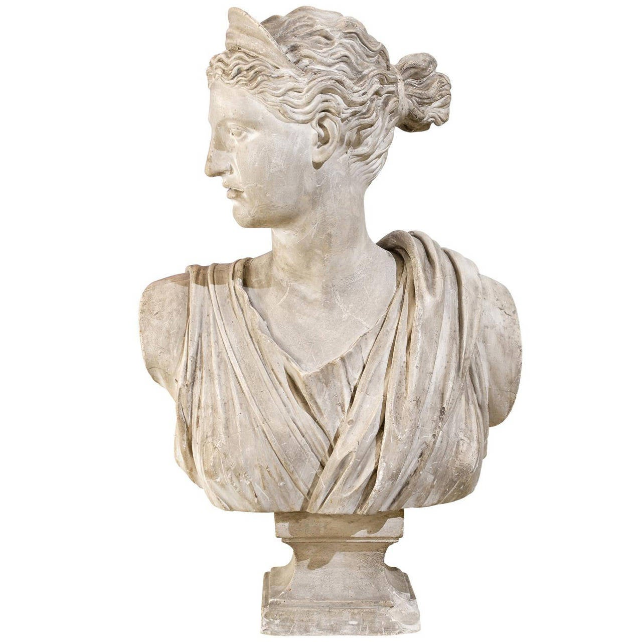 19th Century Plaster Bust of Diana 1