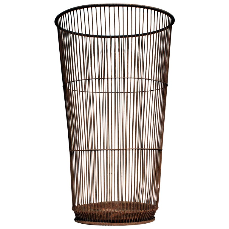 Tall Wire Basket At 1stdibs