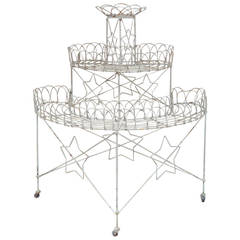 19th Century American Wire Plant Stand