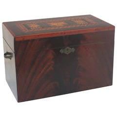 Inlaid Box, Stars, Diamonds, Chevrons, 19th Century, American