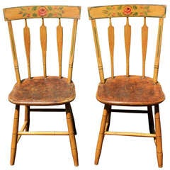Pair of Painted Side Chairs, circa 1830