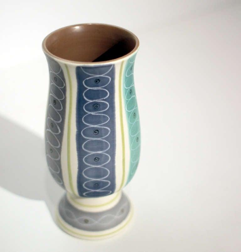 1950s Freeform Poole Pottery Vase At 1stdibs