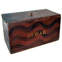 """Sugar"" Box, Maine, Original Paint, circa 1840"