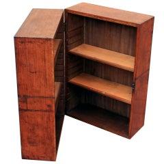Rare Campaign Book Cabinet, mid 19th century
