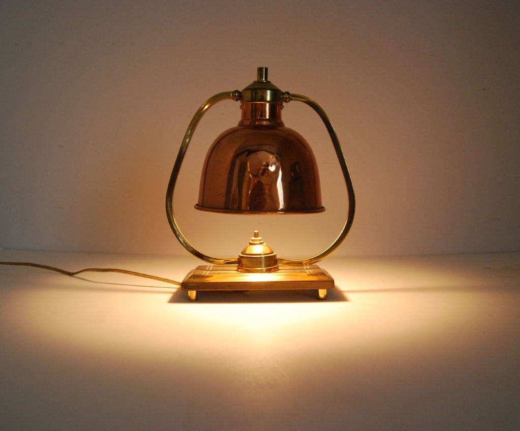 small arts and crafts period lamp at 1stdibs. Black Bedroom Furniture Sets. Home Design Ideas