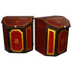 Chinese Tea Bins, Original Paint
