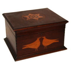 Inlaid Box: Two Birds and Stars, 19th c, American