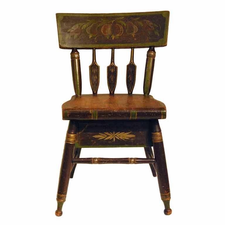 Rare Sewing Chair With Work Drawer Circa 1840