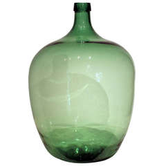 Very Large Blown Glass Demijohn