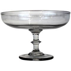 Small Sized Blown Glass Compote