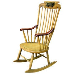 19th Century New England Painted Rocking Chair, Original Paint