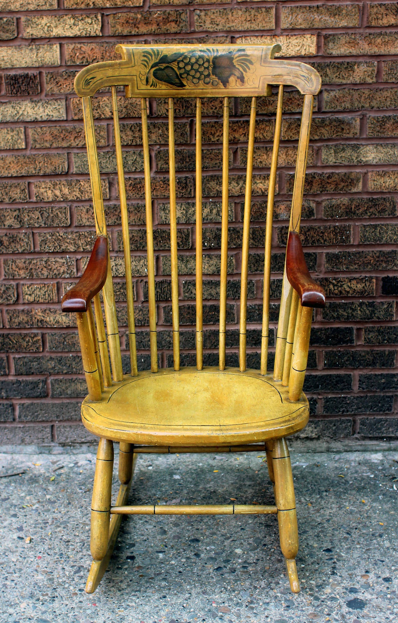 Shabby chic painted rocking chairs - 19th Century New England Painted Rocking Chair Original Paint 2