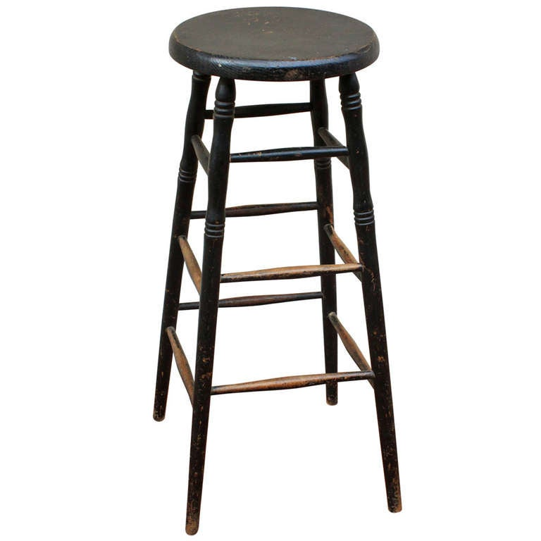 Tall Painted Stool 19th Century At 1stdibs