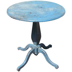 Blue Painted Pedestal Table, 19th century, American