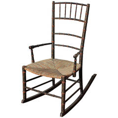 19th Century Southern Painted Rocker